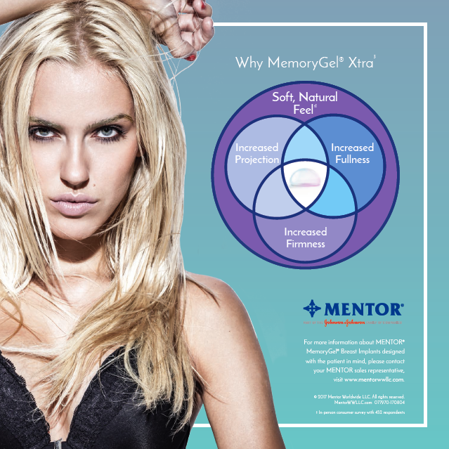 Giles Breast and Body Plastic Surgery is now offering Mentor MemoryGel Xtra Breast Implants