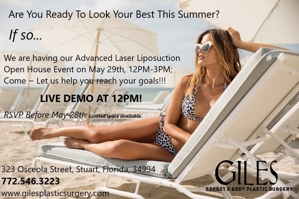 Giles Breast & Body Plastic Surgery Invites You To Come Learn More About Advanced Laser Lipo Body Sculpting Options!