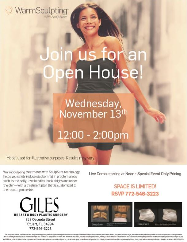 Treasure Coast SculpSure Body Contouring Open House November 2019